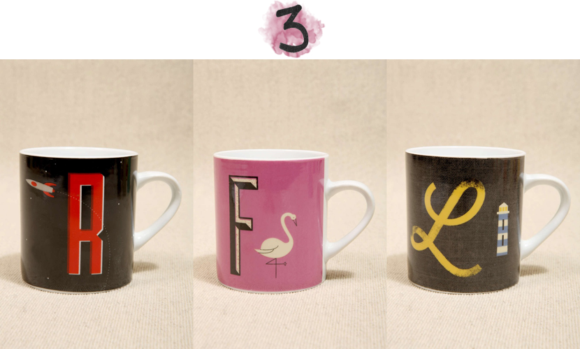 alphabet mugs via au pays des merveilles