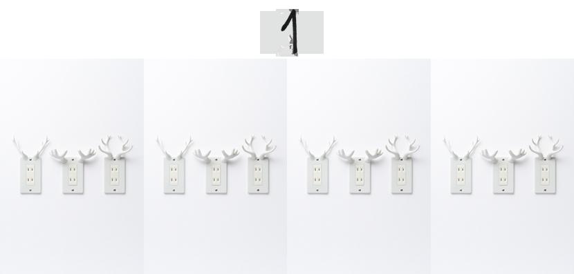 socket deer by nendo via au pays des merveilles
