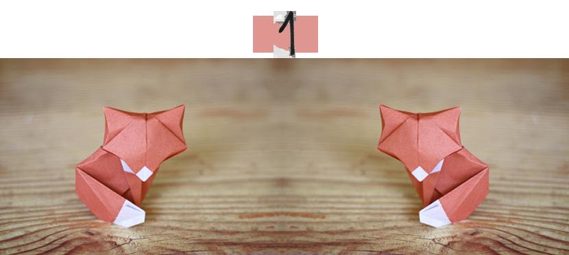 origami fox via au pays des merveilles