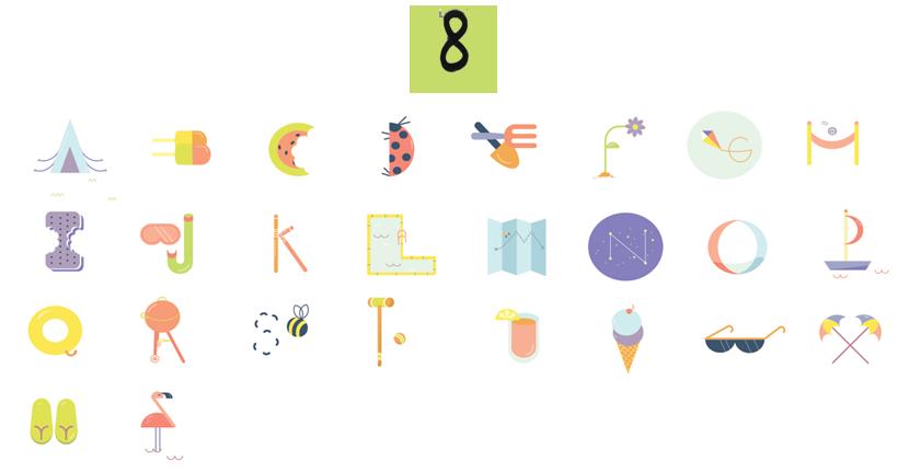 summer alphabet via au pays des merveilles