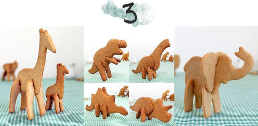 3D animal cookie cutters via au pays des merveilles