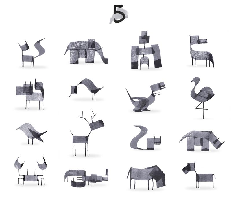 calligraphy animals via au pays des merveilles