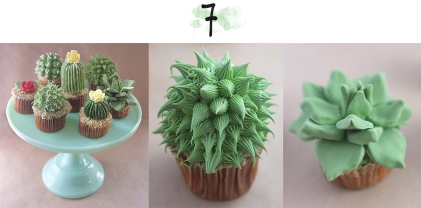 houseplant cupcakes via au pays des merveilles