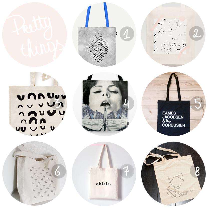 pretty things tote bags via au pays des merveilles